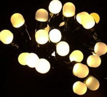 Sznur świetlny 200 perełek led ciepły