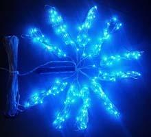 Lamki na druciku niebieski