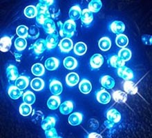 Sznur świetlny 50 led niebieski
