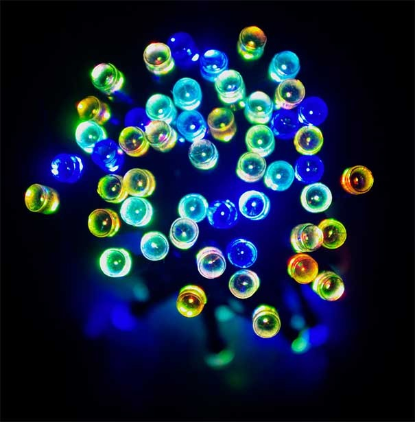 Sznur choinkowy 100 led RGB
