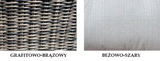 IBIZA - okrągła leżanka ogrodowa technorattanowa z daszkiem - NR 0072
