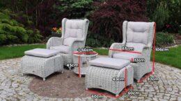 LIZBONA 2 - rattanowe fotele ze stolikiem - NR 0042