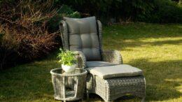 LIZBONA  - fotel rattanowy z stolikiem kawowym - NR 0041