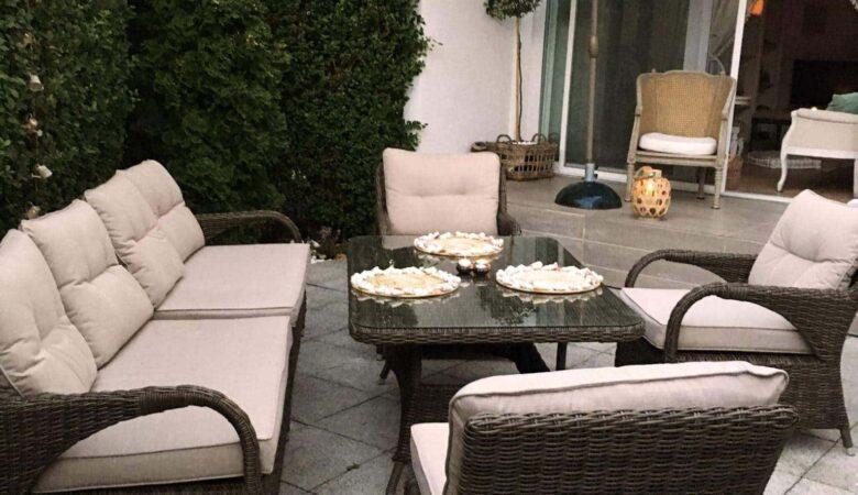 PORTO narożnik ogrodowy ze stołem jadalnym NR 0138