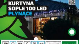 Kurtyna Sople LED 4,75 m • 100 LED • na zewnątrz • 8 funkcji świecenia • możliwość łączenia • oświetlenie świąteczne NR 0208