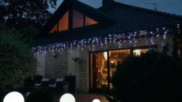 Kurtyna Sople LED 8,75 m • 200 LED • z Błyskiem • zewnętrzne oświetlenie świąteczne NR 0235
