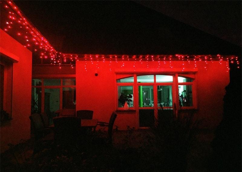 Kurtyna Sople Led 145 M 300 Led Wyłącznik Czasowy Zewnętrzne Oświetlenie świąteczne Nr 0229