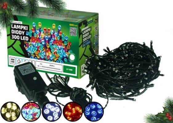 Lampki na druciku • wachlarz 20 x 2,4 m • 500 LED • 4 kolory • zewnętrzne oświetlenie świąteczne NR 0232