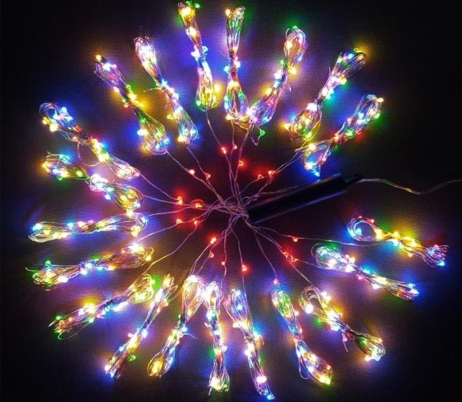 Lampki Na Druciku Wachlarz 20 X 24 M 500 Led 4 Kolory Zewnętrzne Oświetlenie świąteczne Nr 0232