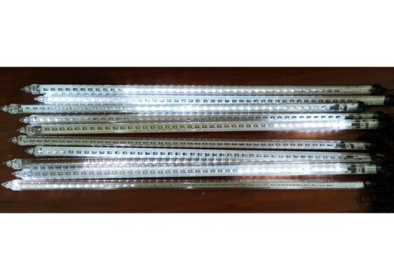 Sople LED zewnętrzne • 10 tub po 80 cm sznur 27 m • efekt płynięcia • 420 LED • oświetlenie świąteczne LED NR 0212