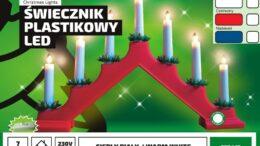 Świecznik adwentowy • bożonarodzeniowy •7 LED • z wyłącznikiem • oświetlenie świąteczne LED NR 0200