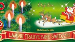 Tradycyjne świeczki na choinkę • sznur 4,75 m • 20 LED • do mocowania na gałązki • oświetlenie świąteczne LED NR 0199