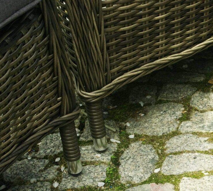 PALERMO GRANDE -  zestaw mebli ogrodowych z technorattanu z stołem ogrodowym - NR 0375