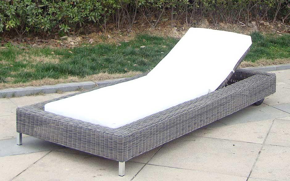 Bitonto łóżko Ogrodowe Leżak Ogrodowy Z Technorattanu Na Kołach Nr 0388