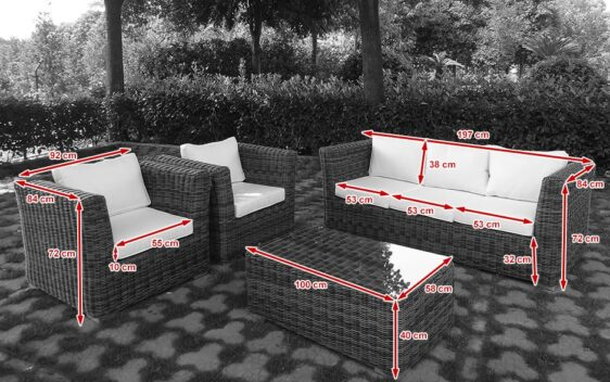 VIGO - zestaw mebli ogrodowych z technorattanu - NR 0402