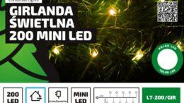 Lampki na druciku sznur 5 m • 200 LED • mini diody • zewnętrzne oświetlenie świąteczne NR 0448