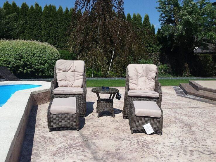 TINOS wygodne, rattanowe fotele ogrodowe na taras - NR 0152