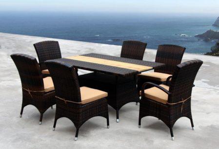 Stół ogrodowy z technorattanu z fotelami