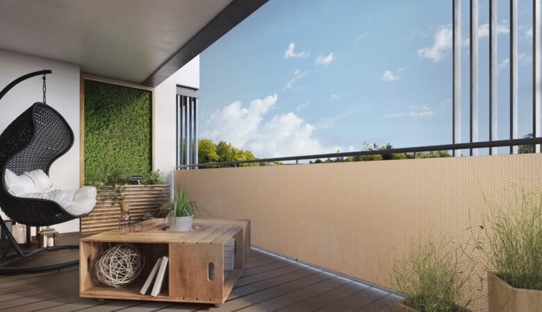Osłona na balkon ogrodzenie z technorattanu. Wycinana na wymiar. NR 0540