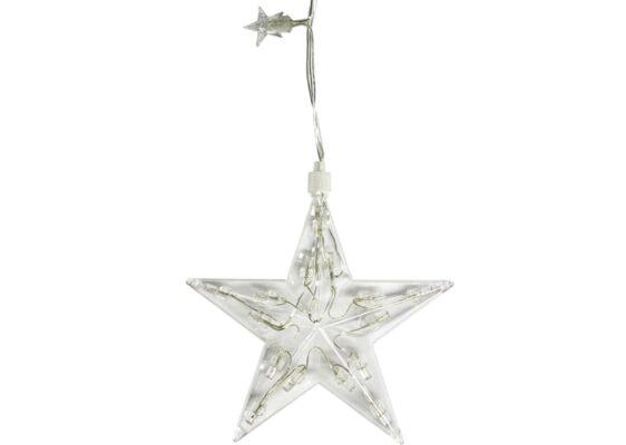 Kurtyna świetlna Gwiazdki 1,25 m • 100 LED • wewnętrzne oświetlenie •  8 funkcji świecenia • lampki NR 0197
