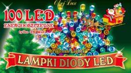 Sznur świetlny 6 m • lampki wewnętrzne • 100 LED • oświetlenie świąteczne • NR 0181