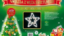 Figura Gwiazda LED • średnica 100 cm • Błysk • 144 LED • na zewnątrz • oświetlenie świąteczne NR 0214