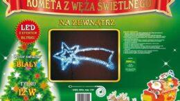 Figura Kometa LED 2D • 140 cm x 65 cm •  z efektem FLASH • na zewnątrz • oświetlenie świąteczne NR 0215