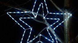 Komplet 5 figur Gwiazd LED o średnicy 100 cm • sznur 12 m • z Błyskiem • zewnętrzne oświetlenie świąteczne LED NR 0217