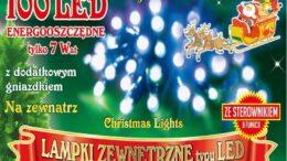 Sznur świetlny 10 m •  100 LED • na zewnątrz • 8 funkcji świecenia • możliwość łączenia • oświetlenie świąteczne NR 0207