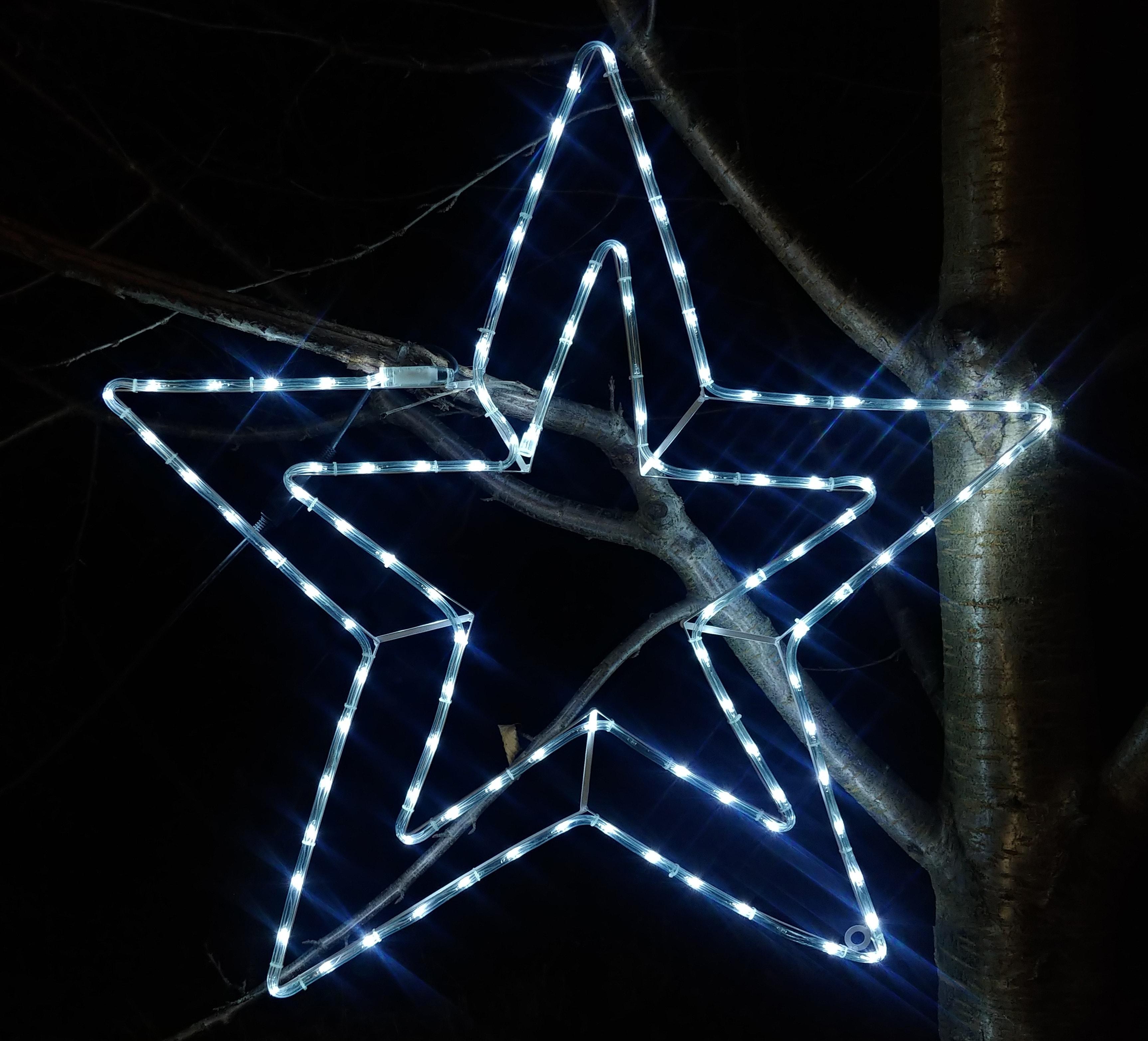 Figura Gwiazda Led średnica 100 Cm Błysk 144 Led Na Zewnątrz Oświetlenie świąteczne Nr 0214