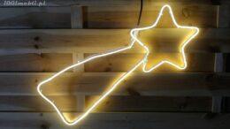 Figura kometa LED • 60x30 cm • Ciepła Biel • na zewnątrz • oświetlenie świąteczne NR 0559