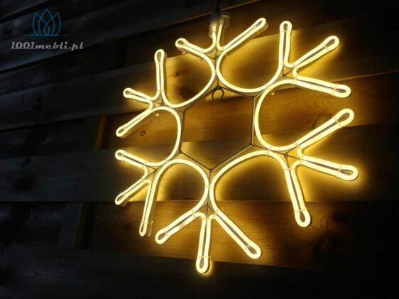 Figura Śnieżynka LED •  śr. 40 cm • Ciepła Biel • na zewnątrz • oświetlenie świąteczne NR 0558