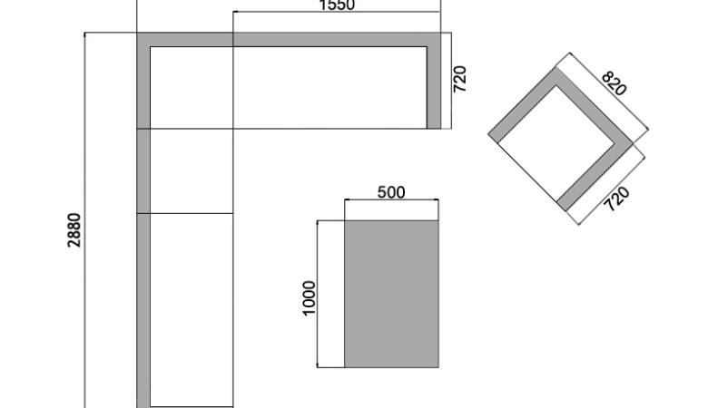 Duży narożnik ogrodowy z technorattanu meble ogrodowe Aperto IX NR 0675