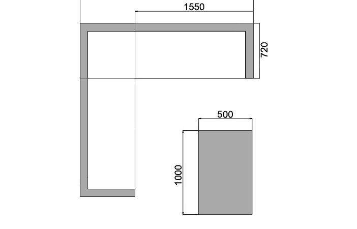 Wymiary zestawu mebli ogrodowych Aperto