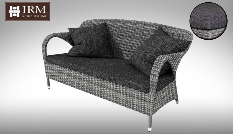 Sofa technorattan dwuosobowa z zestawu mebli ogrodowych