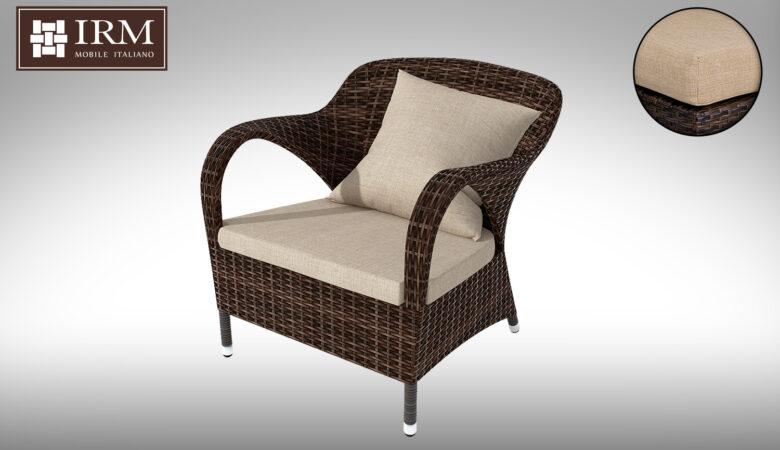 Fotel rattanowy - meble ogrodowe z technorattanu