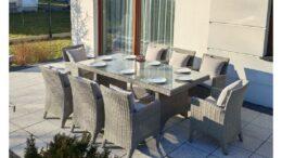 Duży prostokątny stół ogrodowy z technorattanu Granada NR 0582