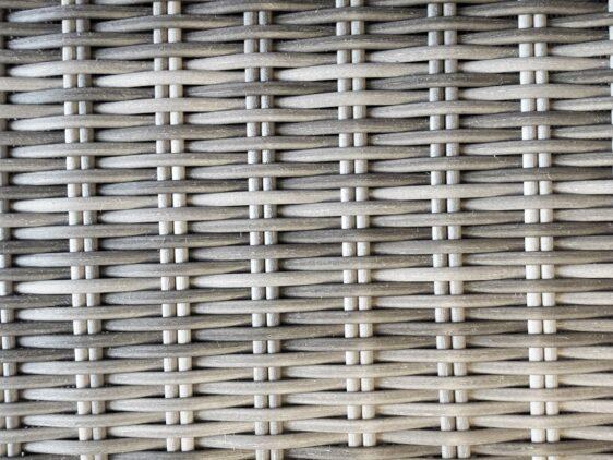 KORYNT 180 Duży Okrągły Stół Ogrodowy +8x Fotel Ogrodowy Technorattan