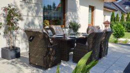 ROMA SET Rozkładane Fotele Ogrodowe i Stół prostokątny